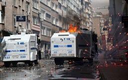 Primero de mayo en Estambul, Turquía. Foto de archivo