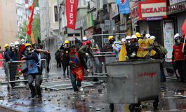 Primero de mayo en Estambul, Turquía. Fotos de archivo libres de regalías