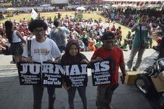 Primero de mayo en la ciudad de Semarang imagenes de archivo