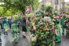Primero de mayo Jack de Hastings en el festival verde 2017 Foto de archivo libre de regalías