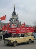 Primero de mayo primera Rusia del partido de comunistas de la iglesia fotos de archivo libres de regalías