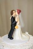 Primero del pastel de bodas imagen de archivo