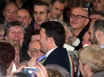 Primero ministro nacional de Matteo Renzi, el día pasado como Florencia Imagenes de archivo