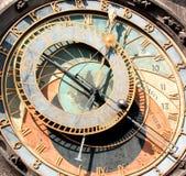 Primero plano del reloj astronómico Foto de archivo