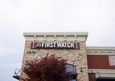 Primero restaurante del reloj, Murfreesboro, TN Imagenes de archivo