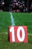 Primero y 10 yardas a ir Foto de archivo libre de regalías