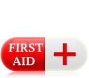 Primeros auxilios de la píldora Imagen de archivo libre de regalías