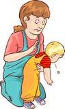Primeros auxilios del bebé Foto de archivo libre de regalías