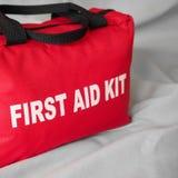 Primeros auxilios Kit Bag Closeup Foto de archivo libre de regalías