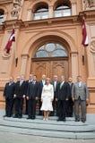 Primeros ministros letones Imagenes de archivo