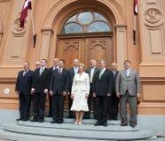 Primeros ministros letones Fotografía de archivo libre de regalías