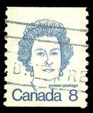 Primeros ministros y reina canadienses Elizabeth foto de archivo libre de regalías