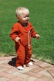 Primeros pasos de progresión del bebé Imagen de archivo libre de regalías