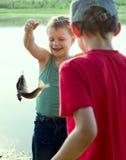 Primeros pescados. Fotografía de archivo libre de regalías