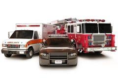 Primeros vehículos del respondedor Fotos de archivo
