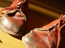 primeros zapatos Fotografía de archivo libre de regalías