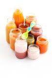 Primi alimenti per bambini Fotografie Stock Libere da Diritti