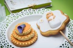 Primi biscotti di comunione Fotografie Stock
