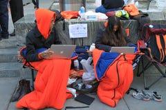 Primi compratori di iPhone 4s Immagine Stock Libera da Diritti