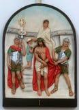 primi Le stazioni della traversa, Jesus è condannata alla morte fotografia stock libera da diritti