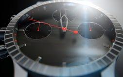 Primi piani dell'orologio Fotografie Stock Libere da Diritti