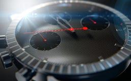 Primi piani dell'orologio Immagini Stock
