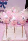 Primi regali delle decorazioni della festa di compleanno Fotografie Stock