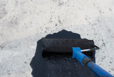 Priming concrete screed Royalty Free Stock Photography