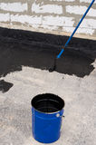 Priming  concrete screed Stock Images