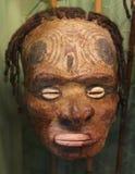 Primitief masker met ogen van shells in Papoea-Nieuw-Guinea Royalty-vrije Stock Afbeeldingen