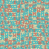 Primitief stammen naadloos patroon Royalty-vrije Stock Foto