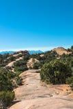 Primitieve Sleep in Bogen Nationaal Park, Utah Stock Fotografie