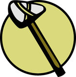 Primitieve steenbijl stock illustratie