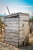 Primitiv toalett Arkivfoton