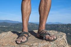 Primitiva sandaler Royaltyfria Bilder