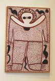 Primitive Aboriginal art, Australia  Royalty Free Stock Image