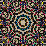 Primitive abstract pattern with colorful beads Stock Photography