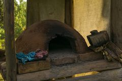 Primitive adobe oven stock photography