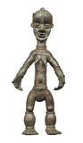 Primitive African female figure isolated Royalty Free Stock Images