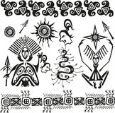 Primitive african pagan figures royalty free illustration