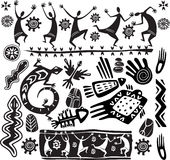 Primitive art design elements royalty free illustration