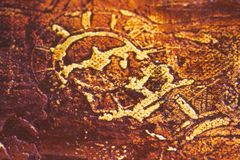 Primitive art, detail Stock Photo