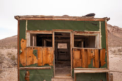 Primitive building still stands Rhyolite Ghost Town Nevada Stock Images
