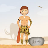 Primitive caveman Stock Images