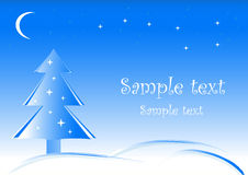 Primitive Christmas background Royalty Free Stock Photos