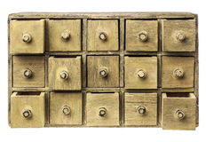 Primitive drawer cabinet Stock Photo