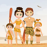 Primitive family Stock Photography
