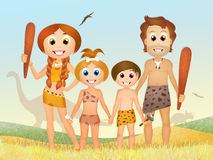 Primitive family Stock Image