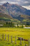 Patagonian farm in Chile stock photos