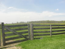 Primitive Fencing. What craftsmanship this old fence shows how it use to be done many years ago, back home on the farm Stock Images